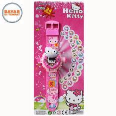 Uniq Jam Tangan Anak Proyektor Model Karakter 3D Hello Kitty