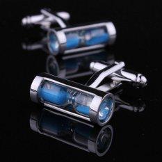 Harga Unique Rare Mens Dress Hourglass Cufflinks For Business Shirt Party Blue Intl Murah