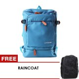 Beli Unique Tas Laptop Backpack Korean Elite Premium K6 Biru Free Raincoat Cicil