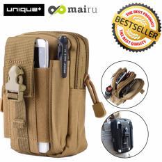 Unique Tas Pinggang Travel Multifungsi Untuk Iphone / Android / Samsung 1188 - Brown