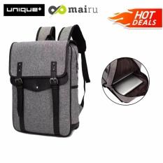 uNiQue Tas Ransel Laptop Backpack Korean Elite K-14 Grey
