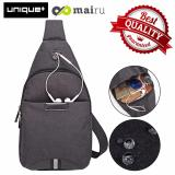 Jual Unique Tas Selempang Anti Air Bag Music Travel And Running Bag Dark Grey Online Jawa Barat
