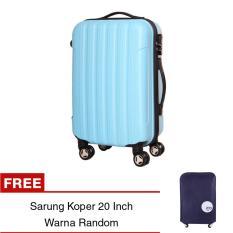 Toko Unique Travel Luggage Koper Kabin Hardcase Speedlite 20 Inch Biru Muda Free Sarung Koper Easyprotect Termurah Jawa Barat