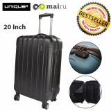 Beli Unique Travel Luggage Koper Kabin Hardcase Speedlite 20 Inch Hitam Baru