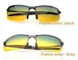 Spesifikasi Adapula Siang Dan Malam View Vision Kacamata Anti Silau Mengemudi Kacamata Terpolarisasi Kelabu Bingkai International Yang Bagus