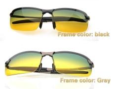 Promo Adapula Siang Dan Malam View Vision Kacamata Anti Silau Mengemudi Kacamata Terpolarisasi Kelabu Bingkai International Murah