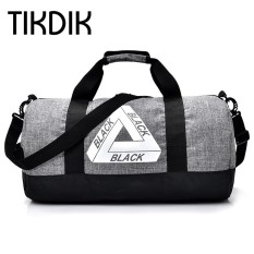 Unisex Duffle Bag Men Autumn Bags Cylindrical Bag Black Gray Military Hand Pocket Versatile Folding Travel Luggage Totes