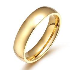Spesifikasi Unisex Fashion Cincin 18 K Emas Berlapis Titanium Steel Wanita Perhiasan Aksesoris Intl Bagus