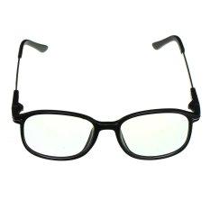 Katalog Unisex Full Rim Spectacles Transparan Kacamata Frame Clear Kacamata Eyewear Bright Black Intl Terbaru