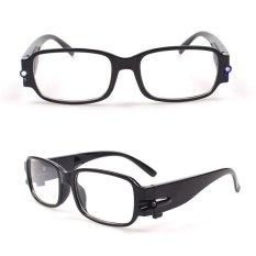 Uniseks LED Lampu Membaca Kacamata Malam Vision Kacamata Hitam Perlindungan Kesehatan-Internasional