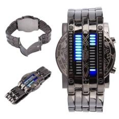 Unisex Matrix Watch Digital 28 LED Watch Bracelet Watch Timepiecefor Men Women - intl
