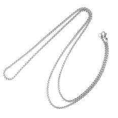 Cuci Gudang Adapula Pria 2Mm Kotak Baja Titanium Kalung Rantai Perak Perhiasan Hadiah Nada