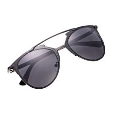 Ulasan Tentang Unisex Mirror Lens Sunglasses Kacamata Kacamata Bingkai Logam