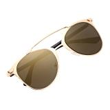 Review Terbaik Unisex Mirror Lens Sunglasses Kacamata Kacamata Bingkai Logam