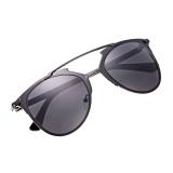 Spesifikasi Unisex Mirror Lens Sunglasses Kacamata Kacamata Bingkai Logam Yg Baik