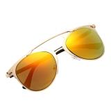 Spesifikasi Unisex Mirror Lens Sunglasses Kacamata Kacamata Bingkai Logam Beserta Harganya