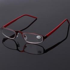 Unisex Stainless Steel Frame Resin Reading Glasses Presbyopia Eyeglass +3.0 - intl
