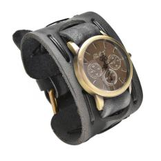 Harga Unisex Vintage Punk Genuine Leather Gelang Wrist Watch Branded