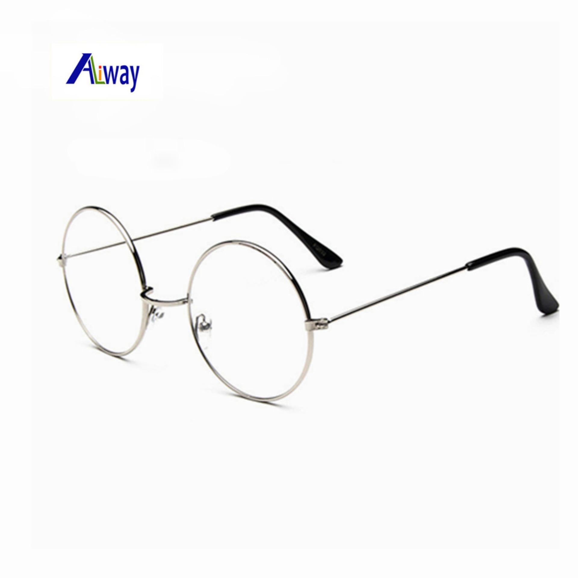 dcce826e9f4e Timely - Unisex Vintage Round Metal Frame Sunglasses 210 Silver - Kacamata  Wanita - Korea Style