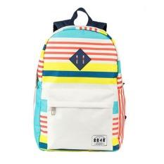 Unisexs Baru Fashion Stripe Backpack Schoolbag Tas Komputer untuk Pelajar (Multicolor)