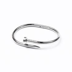 Harga Amerika Serikat Tide Brand Gold Disepuh Gaya Eropa Titanium Steel Nail Gelang Untuk Pria Dan Wanita Pecinta Gelang Paku Sekrup Gelang Intl New