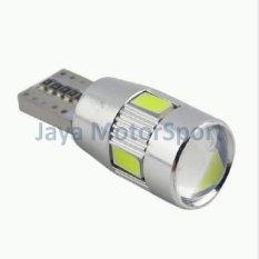 JMS - 1 Pcs Lampu LED Mobil / Motor / Senja T10 Canbus 6 SMD 5630 - Crystal Blue