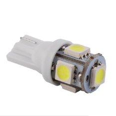 Universal - 1 pasang (2 pcs) Lampu LED Motor / Mobil / Senja T10 w5w / Wedge Side 5 SMD 5050 - White