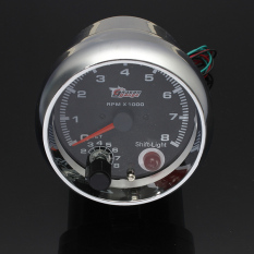 Jual Universal 12 V 3 75 Rev Tachometer Tacho Gauge Counter Shift Light 8000 Rpm Di Bawah Harga