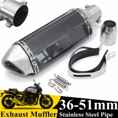 Toko Universal 36 51Mm Motorcycle Carbon Fiber Exhaust Muffler Pipa W Removable Silencer Gp Intl Termurah Tiongkok