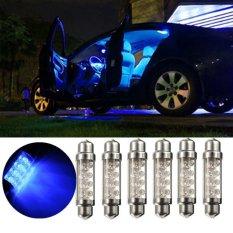 Universal 42mm 8 LED Auto Mobil Interior Light Festoon Membaca Lampu Bohlam-Internasional