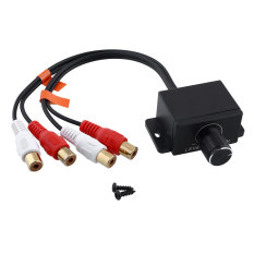 Universal Mobil Home Amplifier Bass RCA Gain Level Remote Volume Knob LC-1