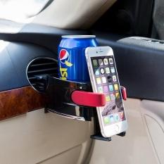 Universal Lubang Udara Mobil Pemegang Minuman Gelas Plastik Tempat Ponsel-Intl