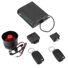 Universal Car Alarm System with Flip Key Remote Control Central Door Lock - intl