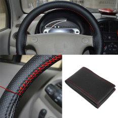 Beli Universal Mobil Kendaraan Kulit Sintetis Steering Wheel Rim Cover With Thread Online