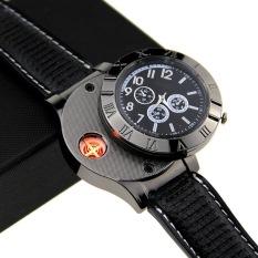 Jual Universal Creative Watches Usb Powered With Lighter Jam Tangan Mancis Hitam Branded