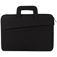 Universal Double Kantong Samping Wearable Oxford Cloth Soft Handle Portable Tablet Laptop, untuk 13.3 Inch dan Di Bawah Macbook, Samsung, Lenovo, Sony, DELL Alienware, CHUWI, ASUS, HP (Hitam)-Intl