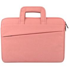 Universal Double Kantong Samping Wearable Oxford Cloth Soft Handle Portable Tablet Laptop, untuk 13.3 Inch dan Di Bawah Macbook, Samsung, Lenovo, Sony, Dell Alienware, CHUWI, ASUS, HP (pink)-Intl