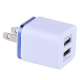 Universal Double Usb Port Berwarna Gilt Edged Rapid Charger Power Adapter Biru Murah