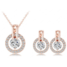 Harga Universal Kalung Dan Anting Bijouterie Wedding Jewelry Sets 18K St0017 A Rose Gold Terbaru