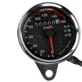 Beli Motor Universal Ganda Odometer Pengukur Speedometer Sinyal Led Lampu Latar Kredit Tiongkok