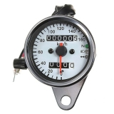 Toko Motor Universal Ganda Odometer Pengukur Speedometer Led Lampu Latar Signal Light Terdekat