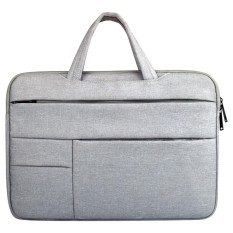 Universal Multiple Pockets Wearable Oxford Cloth Soft Portable Leisurely Handle Laptop Tablet Bag, For 15.6 inch and Below Macbook, Samsung, Lenovo, Sony, DELL Alienware, CHUWI, ASUS, HP (Grey) - intl
