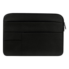 Universal Beberapa Kantong Wearable Kain Oxford Lembut Portable Santai Tablet Laptop, untuk 15.6 Inch dan Di Bawah Macbook, Samsung, Lenovo, Sony, DELL Alienware, CHUWI, ASUS, HP (Hitam)-Intl