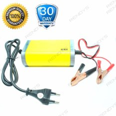 Universal Portable Motorcrycle Car Battery Charger 6A/12V Accu Aki Motor Mobil / Baterai Charger - Kuning