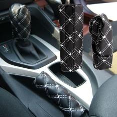 Kulit PU Universal Auto Mobil Penutup Rem Tangan + Gear Shift Stick Penutup Tahan Lama Aksesori