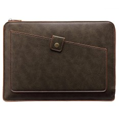 Universal PU Leather Business Laptop Tablet Zipper Bag, For 15.4 inch and Below Macbook Pro 2016, Samsung, Lenovo, Sony, DELL Alienware, CHUWI, ASUS, HP(Coffee) - intl