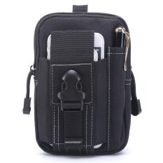 Beli Universal Tas Pinggang Outdoor Tactical Molle Pouch Black Pakai Kartu Kredit