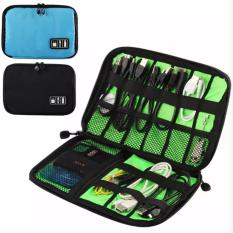 Spesifikasi Universal Travel Electronics Digital Gadgets Organizer Bag Usb Cable Flash Card Storage Case Black Intl Online
