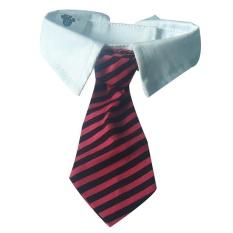 Uniwood PET Sopan Pria Bergaris Dasi-Merah dan Hitam Stripe- INTL
