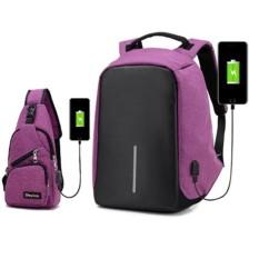 Review Update Versi Anti Wanita Pencurian Backpack Ransel Laptop Waterrepellent Kain Tidak Mudah Deformasi Tas Dada Dengan Pengisian Portfor Gratis Internasional
